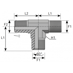 Trójnik niesymetryczny BSPP-BSPT TMG....MGK.B