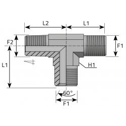 GZ BSPP/GZ BSPP/GZ BSPT Trójnik niesymetryczny
