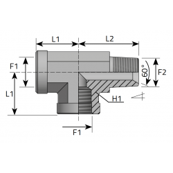 Trójnik niesymetryczny GW GZ BSPP TFFG....MGK.B