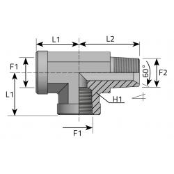 GW BSPP/GW BSPP/GZ BSPP Trójnik niesymetryczny