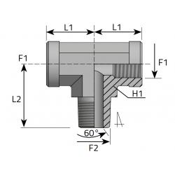 GW BSPP/GW BSPP/GZ BSPT Trójnik symetryczny