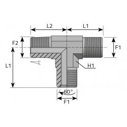 GZ BSPP/GZ BSPP/GZ NPT Trójnik niesymetryczny