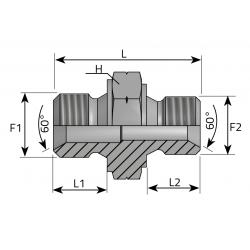 Przyłącze proste BSPP-Metryczny ARGM