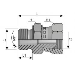 GZ BSPP/GW Metryczny Złącze proste