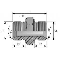 Złącze proste GZ Metryczny ANMM