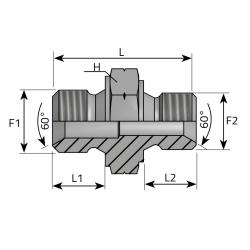 Złącze proste GZ Metryczny ARMM