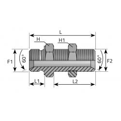 GZ Metryczny/GZ Metryczny LONG Złącze proste grodziowe stożek 60°