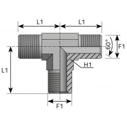 Trójnik T GZ Metryczny TMM