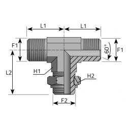 Trójnik symetryczny GZ Metryczny TMM....MOMR..P