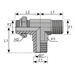 Trójnik niesymetryczny GZ Metryczny TMM....MOMR..B
