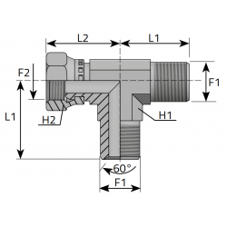 GW Metryczny/GZ Metryczny/GZ Metryczny Trójnik niesymetryczny
