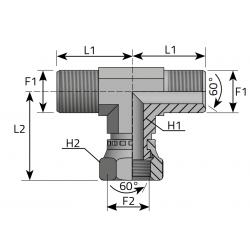 GZ Metryczny/GW Metryczny/GZ Metryczny Trójnik symetryczny