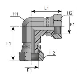 Złącze kątowe 90 GW Metryczny LFGM