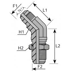 GZ JIC/GZ JIC Złącze kątowe grodziowe 45°
