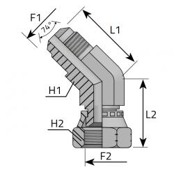 GZ JIC/GW JIC Złącze kątowe 45°