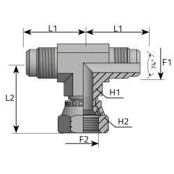 GZ JIC/GZ JIC/GW JIC Trójnik symetryczny