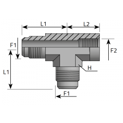 GZ JIC/GZ JIC/GW BSPP Trójnik niesymetryczny