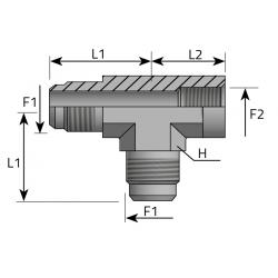 Trójnik niesymetryczny GZ JIC GW BSPP TMJ FFG B