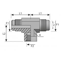 Trójnik symetryczny GZ JIC GW BSPP TMJ FFG P