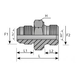GZ JIC/GZ Metryczny stożkowy Złącze proste