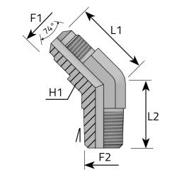 GZ JIC/GZ BSPT Przyłącze kątowe 45°