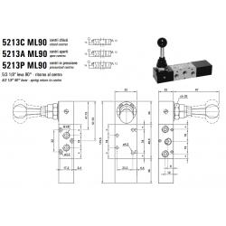 Zawór sterowany manualnie 5213 C/A/P ML900/LL90
