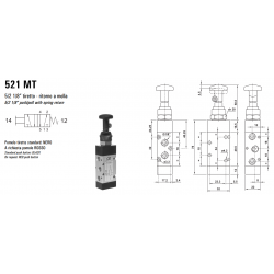 Zawór sterowany manualnie 521 MT/TTCT/CTT
