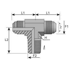 GZ JIC/GZ JIC/GZ BSPT Trójnik symetryczny
