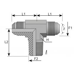 Trójnik symetryczny JIC-NPT TMJ MN P