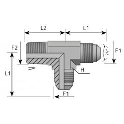 Trójnik niesymetryczny JIC-NPT TMJ MN P