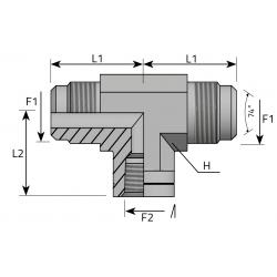 GZ JIC/GZ JIC/GW NPT Trójnik symetryczny