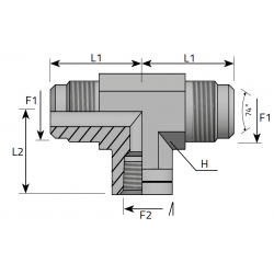 Trójnik symetryczny GZ JIC GW NPT TMJ FFN P
