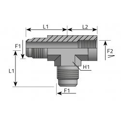 GZ JIC/GZ JIC/GW NPT Trójnik niesymetryczny