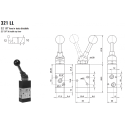 Zawór sterowany manualnie 321LL