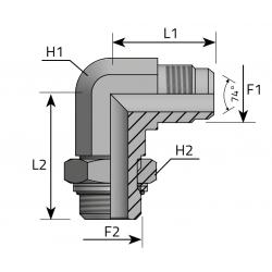 Przyłącze kątowe 90° z nakrętką JIC-BSPP LMJ MOG