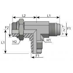GZ JIC z nakrętką/GZ JIC/GZ BSPP Trójnik niesymetryczny