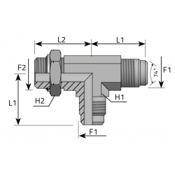 USIT GZ JIC z nakrętką/GZ JIC/GZ Metryczny Trójnik niesymetryczny
