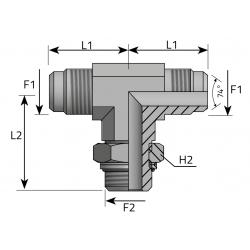 GZ JIC z nakrętką/GZ JIC/GZ BSPP Trójnik symetryczny