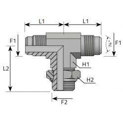GZ JIC z nakrętką/GZ JIC/GZ Metryczny Trójnik symetryczny