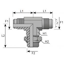 Trójnik symetryczny z nakrętką JIC-Metryczny TMJ MOM R P