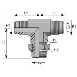 USIT GZ JIC z nakrętką/GZ JIC/GZ Metryczny Trójnik symetryczny