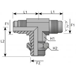 Trójnik symetryczny z nakrętką JIC-UNF TMJ MOU P