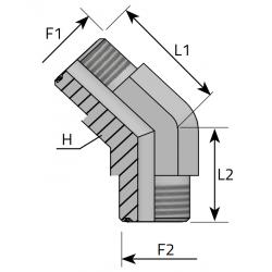 GZ ORFS/GZ ORFS Złącze kątowe 45°