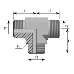 GZ ORFS/GZ ORFS/GZ ORFS Trójnik symetryczny