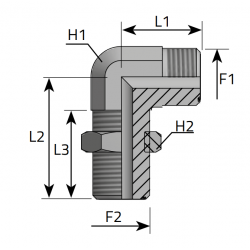 GZ ORFS/GZ ORFS Złącze kątowe 90° grodziowe