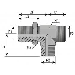 GZ ORFS/GZ ORFS/GZ LONG ORFS Trójnik niesymetryczny grodziowy