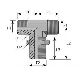 Trójnik symetryczny grodziowy TPPMO. P