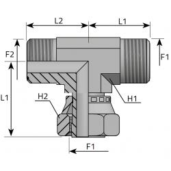 GZ ORFS/GW ORFS/GZ ORFS Trójnik symetryczny