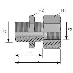 GZ ORFS LONG/GW BSPP Przyłącze proste grodziowe redukcyjne