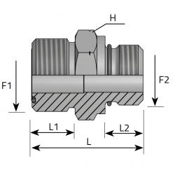 GZ ORFS/GZ Metryczny O-RING Przyłącze proste redukcyjne